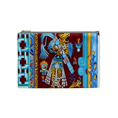 Mexico Puebla Mural Ethnic Aztec Cosmetic Bag (medium)