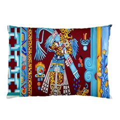 Mexico Puebla Mural Ethnic Aztec Pillow Case (two Sides)