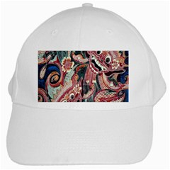 Indonesia Bali Batik Fabric White Cap by Celenk
