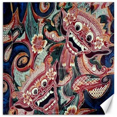 Indonesia Bali Batik Fabric Canvas 20  X 20   by Celenk