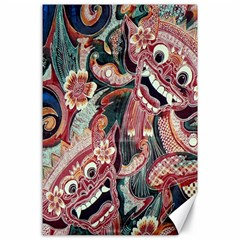 Indonesia Bali Batik Fabric Canvas 24  X 36  by Celenk
