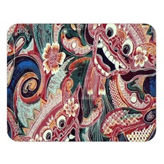 Indonesia Bali Batik Fabric Double Sided Flano Blanket (large)  by Celenk