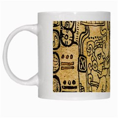 Mystery Pattern Pyramid Peru Aztec Font Art Drawing Illustration Design Text Mexico History Indian White Mugs by Celenk