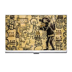 Mystery Pattern Pyramid Peru Aztec Font Art Drawing Illustration Design Text Mexico History Indian Business Card Holders by Celenk