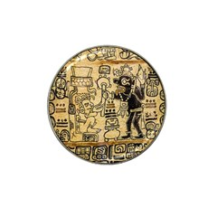 Mystery Pattern Pyramid Peru Aztec Font Art Drawing Illustration Design Text Mexico History Indian Hat Clip Ball Marker (4 pack)