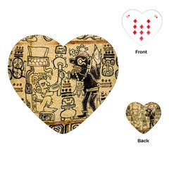Mystery Pattern Pyramid Peru Aztec Font Art Drawing Illustration Design Text Mexico History Indian Playing Cards (Heart)