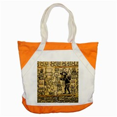 Mystery Pattern Pyramid Peru Aztec Font Art Drawing Illustration Design Text Mexico History Indian Accent Tote Bag