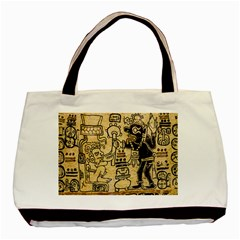 Mystery Pattern Pyramid Peru Aztec Font Art Drawing Illustration Design Text Mexico History Indian Basic Tote Bag (Two Sides)