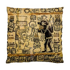 Mystery Pattern Pyramid Peru Aztec Font Art Drawing Illustration Design Text Mexico History Indian Standard Cushion Case (one Side)