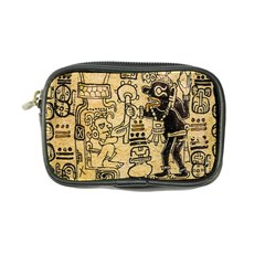 Mystery Pattern Pyramid Peru Aztec Font Art Drawing Illustration Design Text Mexico History Indian Coin Purse