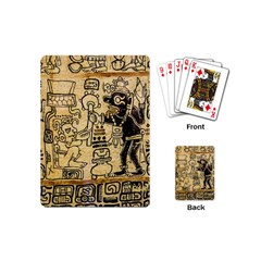 Mystery Pattern Pyramid Peru Aztec Font Art Drawing Illustration Design Text Mexico History Indian Playing Cards (Mini)