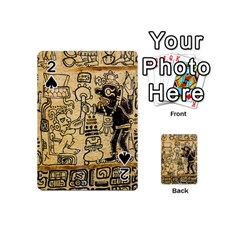 Mystery Pattern Pyramid Peru Aztec Font Art Drawing Illustration Design Text Mexico History Indian Playing Cards 54 (Mini)