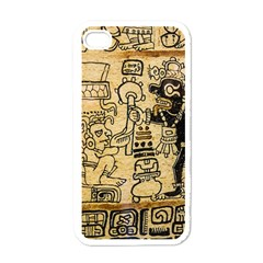 Mystery Pattern Pyramid Peru Aztec Font Art Drawing Illustration Design Text Mexico History Indian Apple iPhone 4 Case (White)