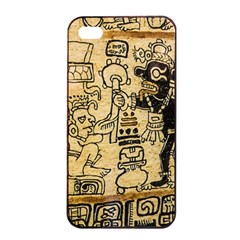 Mystery Pattern Pyramid Peru Aztec Font Art Drawing Illustration Design Text Mexico History Indian Apple iPhone 4/4s Seamless Case (Black)
