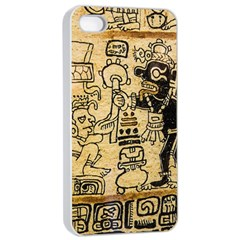 Mystery Pattern Pyramid Peru Aztec Font Art Drawing Illustration Design Text Mexico History Indian Apple Iphone 4/4s Seamless Case (white) by Celenk