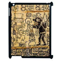 Mystery Pattern Pyramid Peru Aztec Font Art Drawing Illustration Design Text Mexico History Indian Apple iPad 2 Case (Black)