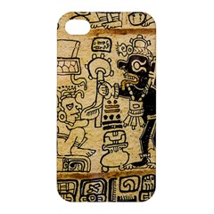 Mystery Pattern Pyramid Peru Aztec Font Art Drawing Illustration Design Text Mexico History Indian Apple Iphone 4/4s Premium Hardshell Case by Celenk
