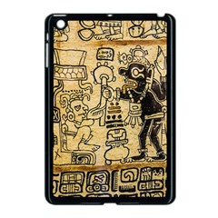 Mystery Pattern Pyramid Peru Aztec Font Art Drawing Illustration Design Text Mexico History Indian Apple iPad Mini Case (Black)