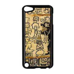 Mystery Pattern Pyramid Peru Aztec Font Art Drawing Illustration Design Text Mexico History Indian Apple iPod Touch 5 Case (Black)