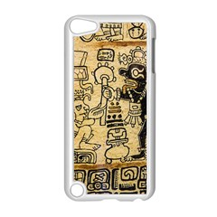 Mystery Pattern Pyramid Peru Aztec Font Art Drawing Illustration Design Text Mexico History Indian Apple iPod Touch 5 Case (White)