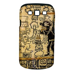 Mystery Pattern Pyramid Peru Aztec Font Art Drawing Illustration Design Text Mexico History Indian Samsung Galaxy S III Classic Hardshell Case (PC+Silicone)