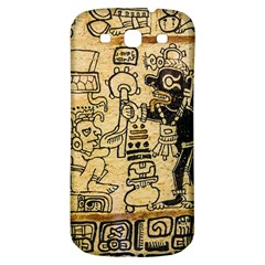 Mystery Pattern Pyramid Peru Aztec Font Art Drawing Illustration Design Text Mexico History Indian Samsung Galaxy S3 S Iii Classic Hardshell Back Case by Celenk