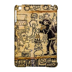 Mystery Pattern Pyramid Peru Aztec Font Art Drawing Illustration Design Text Mexico History Indian Apple iPad Mini Hardshell Case (Compatible with Smart Cover)