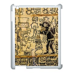 Mystery Pattern Pyramid Peru Aztec Font Art Drawing Illustration Design Text Mexico History Indian Apple iPad 3/4 Case (White)