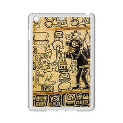 Mystery Pattern Pyramid Peru Aztec Font Art Drawing Illustration Design Text Mexico History Indian iPad Mini 2 Enamel Coated Cases