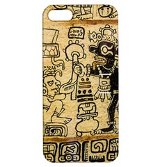 Mystery Pattern Pyramid Peru Aztec Font Art Drawing Illustration Design Text Mexico History Indian Apple iPhone 5 Hardshell Case with Stand