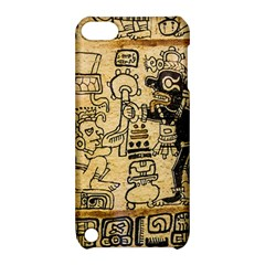 Mystery Pattern Pyramid Peru Aztec Font Art Drawing Illustration Design Text Mexico History Indian Apple iPod Touch 5 Hardshell Case with Stand
