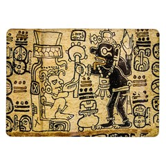Mystery Pattern Pyramid Peru Aztec Font Art Drawing Illustration Design Text Mexico History Indian Samsung Galaxy Tab 10.1  P7500 Flip Case