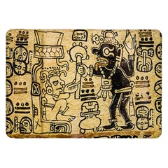 Mystery Pattern Pyramid Peru Aztec Font Art Drawing Illustration Design Text Mexico History Indian Samsung Galaxy Tab 8.9  P7300 Flip Case