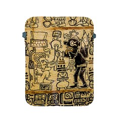 Mystery Pattern Pyramid Peru Aztec Font Art Drawing Illustration Design Text Mexico History Indian Apple iPad 2/3/4 Protective Soft Cases