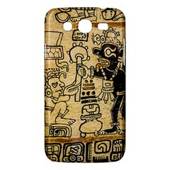 Mystery Pattern Pyramid Peru Aztec Font Art Drawing Illustration Design Text Mexico History Indian Samsung Galaxy Mega 5 8 I9152 Hardshell Case  by Celenk