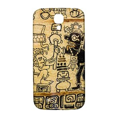 Mystery Pattern Pyramid Peru Aztec Font Art Drawing Illustration Design Text Mexico History Indian Samsung Galaxy S4 I9500/i9505  Hardshell Back Case by Celenk