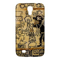 Mystery Pattern Pyramid Peru Aztec Font Art Drawing Illustration Design Text Mexico History Indian Samsung Galaxy Mega 6.3  I9200 Hardshell Case