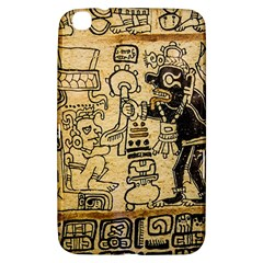 Mystery Pattern Pyramid Peru Aztec Font Art Drawing Illustration Design Text Mexico History Indian Samsung Galaxy Tab 3 (8 ) T3100 Hardshell Case  by Celenk
