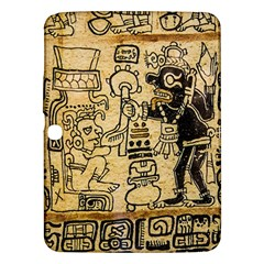 Mystery Pattern Pyramid Peru Aztec Font Art Drawing Illustration Design Text Mexico History Indian Samsung Galaxy Tab 3 (10 1 ) P5200 Hardshell Case  by Celenk