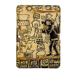 Mystery Pattern Pyramid Peru Aztec Font Art Drawing Illustration Design Text Mexico History Indian Samsung Galaxy Tab 2 (10.1 ) P5100 Hardshell Case