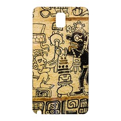 Mystery Pattern Pyramid Peru Aztec Font Art Drawing Illustration Design Text Mexico History Indian Samsung Galaxy Note 3 N9005 Hardshell Back Case by Celenk