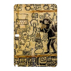 Mystery Pattern Pyramid Peru Aztec Font Art Drawing Illustration Design Text Mexico History Indian Samsung Galaxy Tab Pro 10.1 Hardshell Case