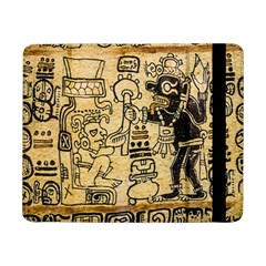 Mystery Pattern Pyramid Peru Aztec Font Art Drawing Illustration Design Text Mexico History Indian Samsung Galaxy Tab Pro 8.4  Flip Case