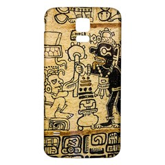 Mystery Pattern Pyramid Peru Aztec Font Art Drawing Illustration Design Text Mexico History Indian Samsung Galaxy S5 Back Case (White)