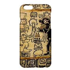 Mystery Pattern Pyramid Peru Aztec Font Art Drawing Illustration Design Text Mexico History Indian Apple iPhone 6 Plus/6S Plus Hardshell Case