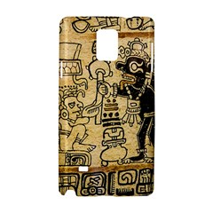 Mystery Pattern Pyramid Peru Aztec Font Art Drawing Illustration Design Text Mexico History Indian Samsung Galaxy Note 4 Hardshell Case