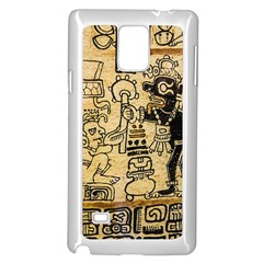 Mystery Pattern Pyramid Peru Aztec Font Art Drawing Illustration Design Text Mexico History Indian Samsung Galaxy Note 4 Case (White)