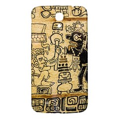 Mystery Pattern Pyramid Peru Aztec Font Art Drawing Illustration Design Text Mexico History Indian Samsung Galaxy Mega I9200 Hardshell Back Case