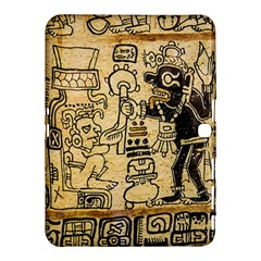 Mystery Pattern Pyramid Peru Aztec Font Art Drawing Illustration Design Text Mexico History Indian Samsung Galaxy Tab 4 (10 1 ) Hardshell Case  by Celenk