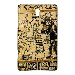 Mystery Pattern Pyramid Peru Aztec Font Art Drawing Illustration Design Text Mexico History Indian Samsung Galaxy Tab S (8 4 ) Hardshell Case  by Celenk